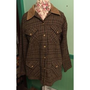 Vintage Plaid Blazer/Jacket From Capacity M